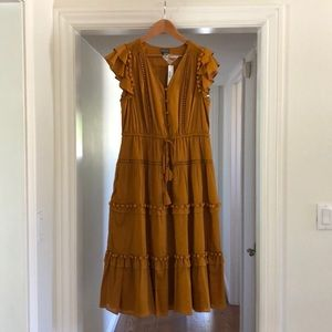 J Crew Point Sur Pom Pom dress